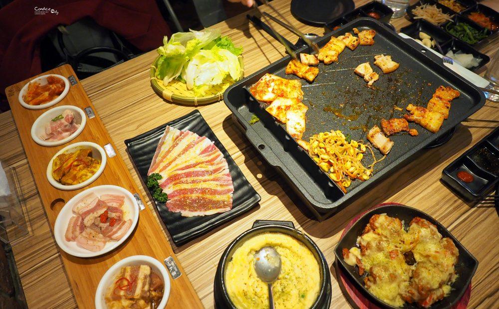 《市政府》韓斤麻浦 微風信義美食 韓國烤肉五花肉還會冒火! @陳小沁の吃喝玩樂
