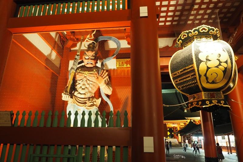 【東京景點】穿和服逛雷門,淺草寺,仲見世通!東京景點必訪!雷門夜景好美!