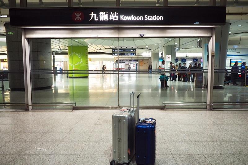 【機場快線】九龍站預辦登機,預掛行李很方便,機場快線前往香港機場! @陳小沁の吃喝玩樂