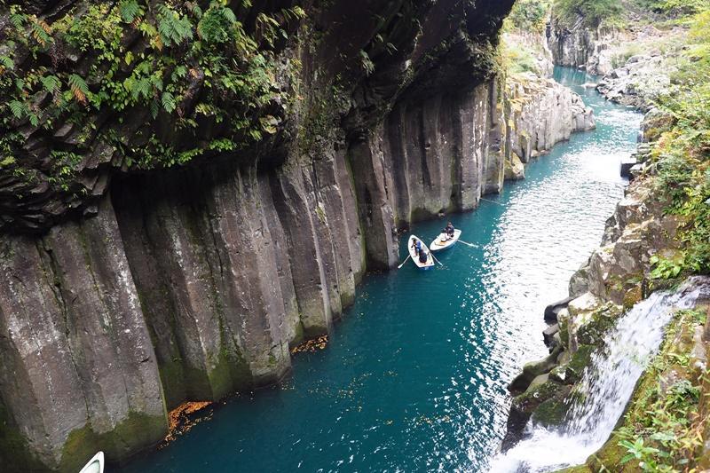 高千穗峽|神話夢幻九州必去景點!高千穗峽自駕交通划船攻略,真名井瀑布美番!