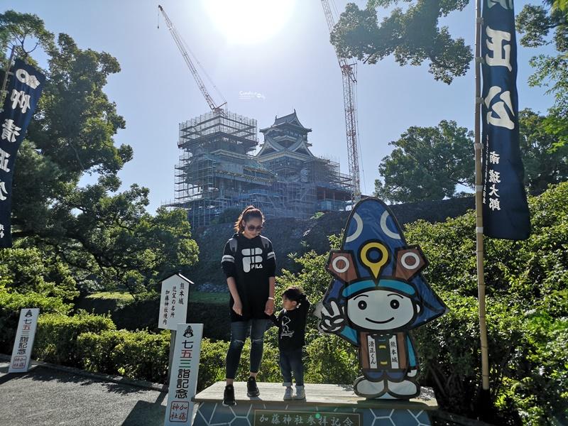 熊本城|未開放!修復現況,可去加藤神社遠眺熊本城!熊本景點推薦! @陳小沁の吃喝玩樂