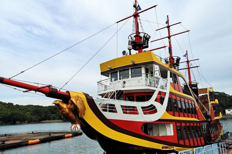 九十九島遊覧船|私心最愛的景點,海盜船/珍珠皇后號乘風破浪,優游海中小島!