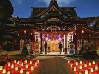 櫛田神社|值得走走參拜的神社,還有神燈,晚上拍照超美! @陳小沁の吃喝玩樂