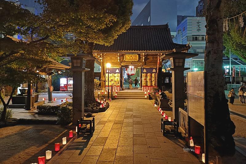 櫛田神社|值得走走參拜的神社,還有神燈,晚上拍照超美!
