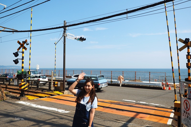 【鎌倉景點】灌籃高手平交道,鎌倉高校前的平交道必訪!兒時回憶!