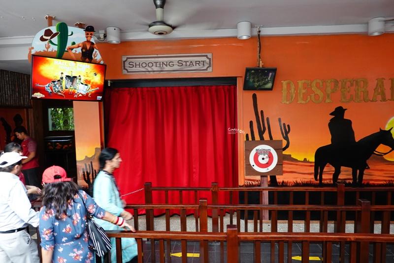 聖淘沙4D探險樂園|超好玩4D電影院,騎馬射擊壞人比賽很有趣(聖淘沙景點)