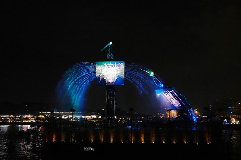 仙鶴芭蕾水舞秀|聖淘沙免費燈光水舞秀,每晚8點開始,位置心得分享