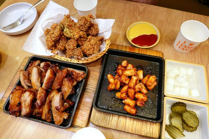 蕩蕩炸雞|濟州島有名炸雞,超夯鐵板烤雞,鐵板辣年糕超好吃(蓮洞美食)