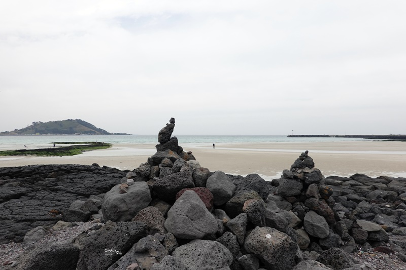 挾才海水浴場협재해수욕장|濟州必訪景點,美麗海岸線還有美人魚雕像!