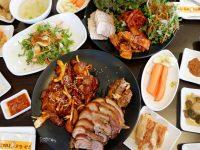 《首爾美食》元祖奶奶菜包肉,豬腳辣翻超好吃的弘大美食推薦! @陳小沁の吃喝玩樂