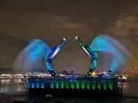 仙鶴芭蕾水舞秀|聖淘沙免費燈光水舞秀,每晚8點開始,位置心得分享 @陳小沁の吃喝玩樂