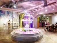 無聊咖啡 AMBI-CAFE|夢幻噴水池+麻辣牛肉彩色麵,衝突台北網美咖啡廳! @陳小沁の吃喝玩樂