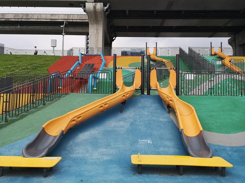 大臺北都會公園|台北溜滑梯公園,超長刺激的免費溜滑梯(三重)