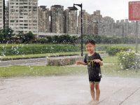 汐止星座公園|噴水池沙坑溜滑梯,台北免費親子景點(星光橋公園) @陳小沁の吃喝玩樂
