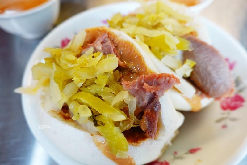 阿松割包|特色豬舌包必吃!台南永樂市場美食,超讚!