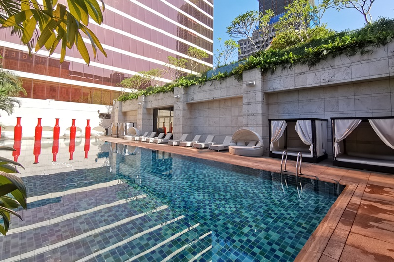 台中林酒店|超美市景台中住宿推薦!早餐好吃,泳池超美!