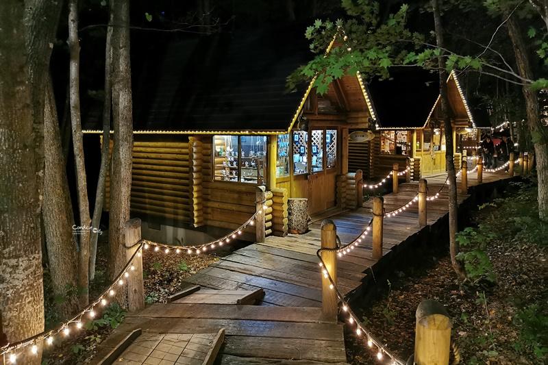 森林精靈露台+森之時計咖啡屋 點燈後森林精靈露臺超漂亮!富良野景點推薦!