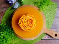 芒果慕斯蛋糕|芒果玫瑰花食譜/做法,免烤箱!母親節蛋糕自己做! @陳小沁の吃喝玩樂