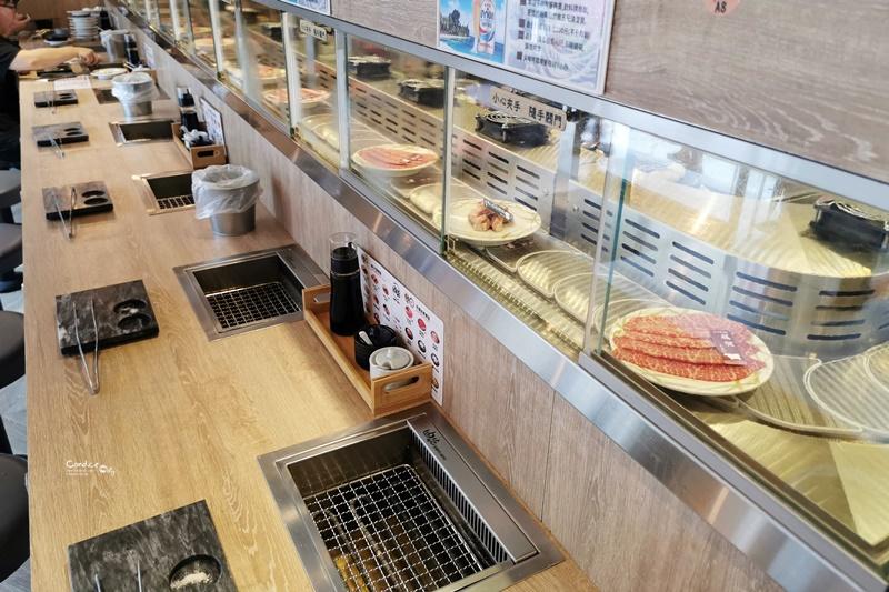 油花迴轉吧燒肉 永康駅|台北第一間迴轉燒肉!一人燒肉,邊吃邊拿好有趣!