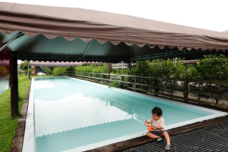 同樂休閒綠園道 沙坑,游泳池超好玩的雨棚宜蘭親子露營區,大草原美!