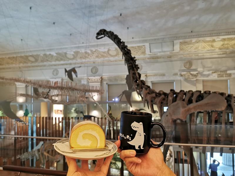 石尚恐龍主題餐廳|看恐龍喝咖啡吃蛋糕!台灣博物館咖啡廳!